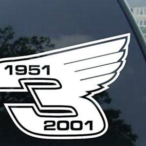 Earnhardt #3 With Wings Sticker