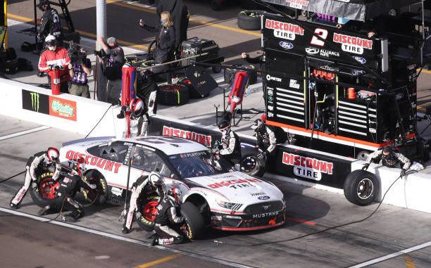 Brad Keselowski blames bad pit stops says his car was pretty equal with that of winner Chase Elliott