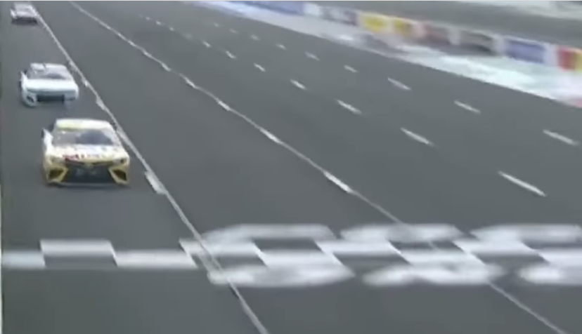 """""""I'm going to fly like an eagle."""" - Kyle Busch sings as he takes leads at Pocono"""
