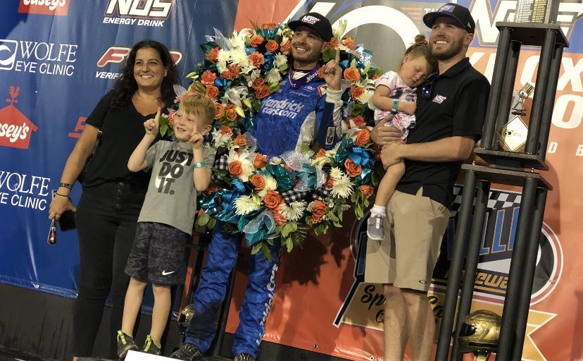 Emotional Kyle Larson in tears after first Knoxville Nationals title Victory