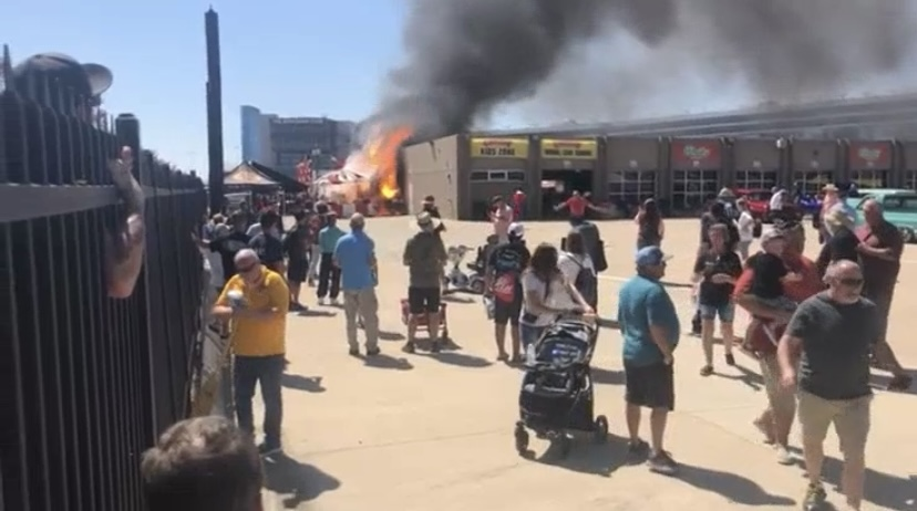 No injuries after Propane tank explode at Texas Motor Speedway
